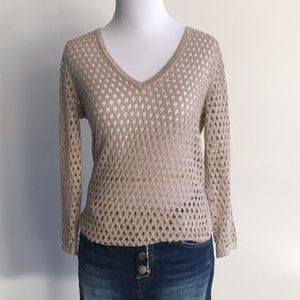 SPARKLE ! Armani Exchange gold sweater Small